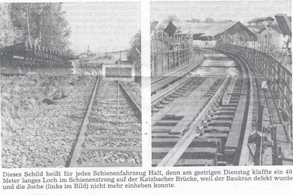 Brückenreparatur 1986