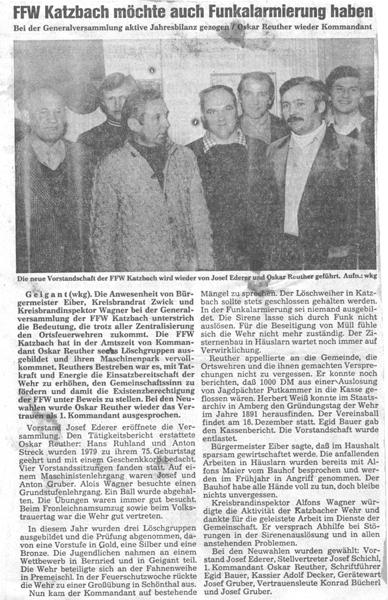 Hauptversammlung 1979