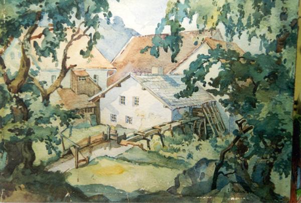 Muehle Gemälde aus dem Jahre 1947