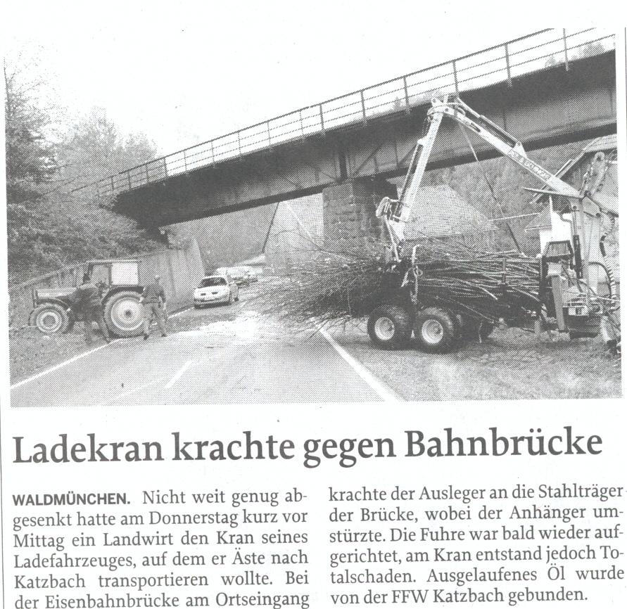 Unfall Bauer Christian